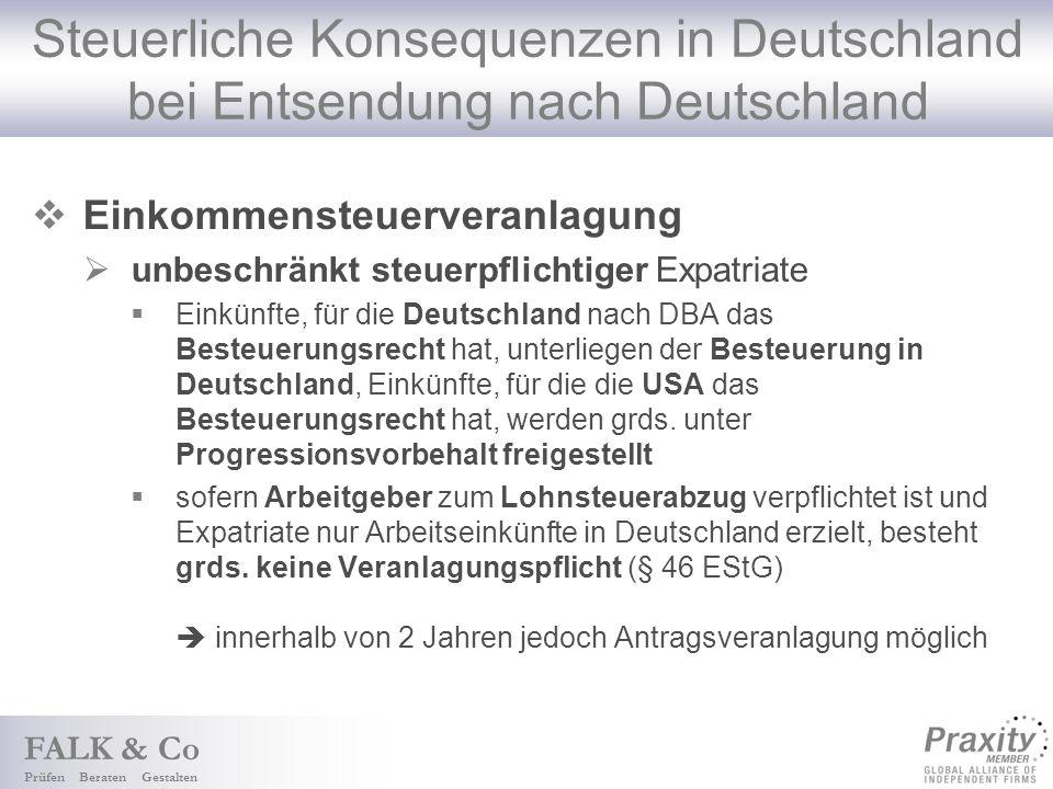 Steuerliche Konsequenzen in Deutschland bei Entsendung nach Deutschland