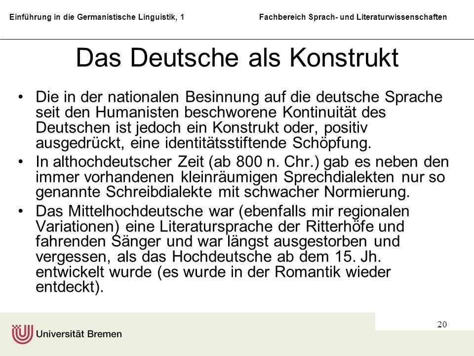 Das Deutsche als Konstrukt