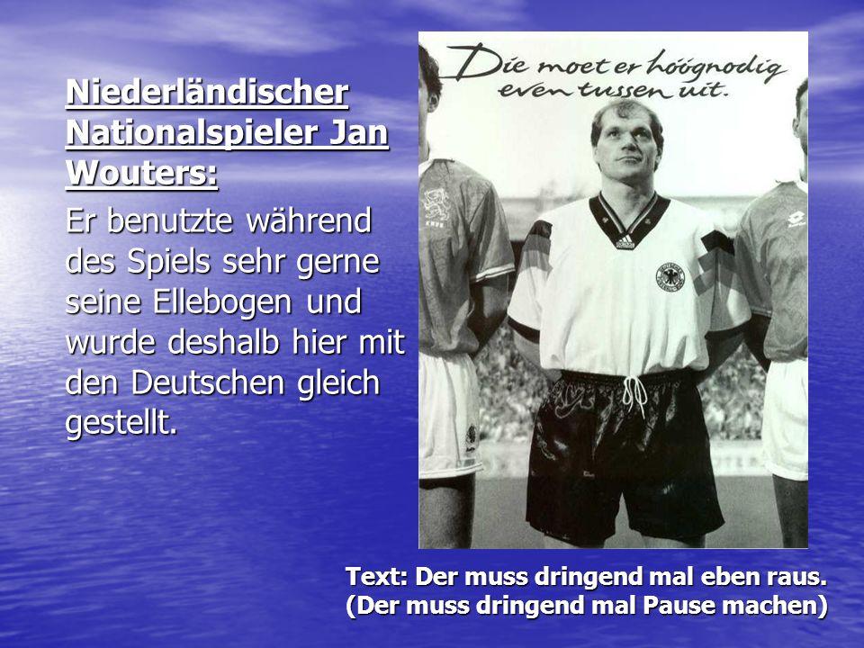 Niederländischer Nationalspieler Jan Wouters: