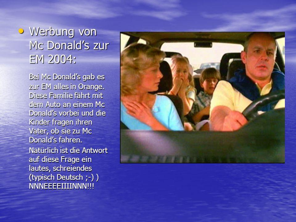 Werbung von Mc Donald's zur EM 2004:
