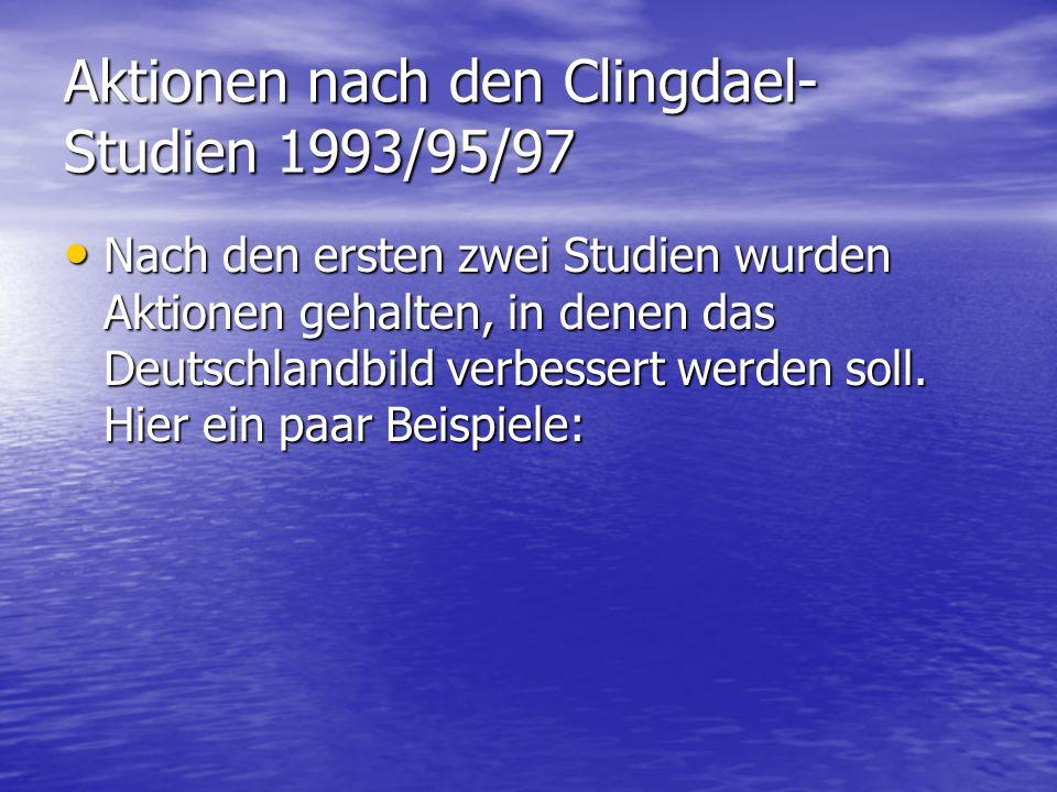 Aktionen nach den Clingdael-Studien 1993/95/97