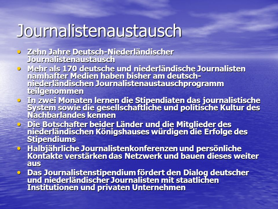Journalistenaustausch