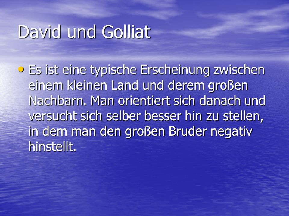 David und Golliat