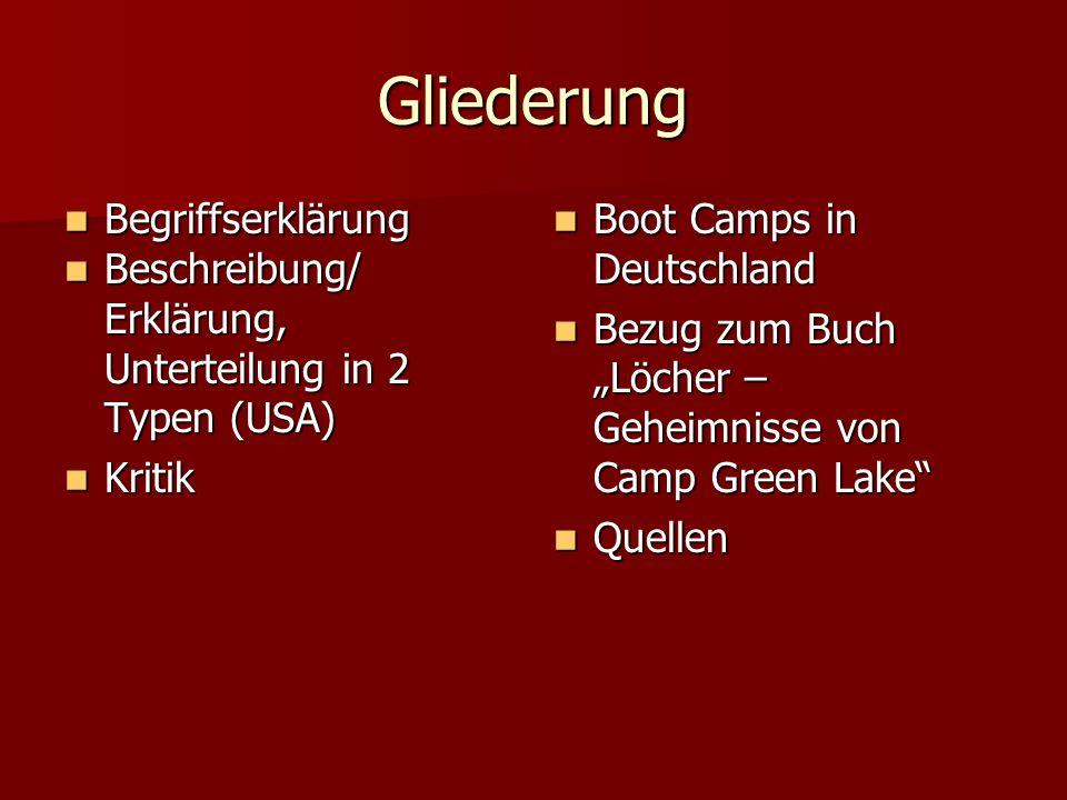 Gliederung Begriffserklärung Beschreibung/