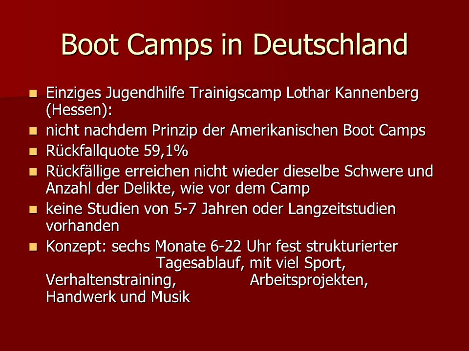 Boot Camps in Deutschland