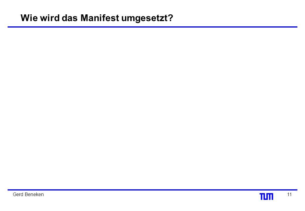 Wie wird das Manifest umgesetzt