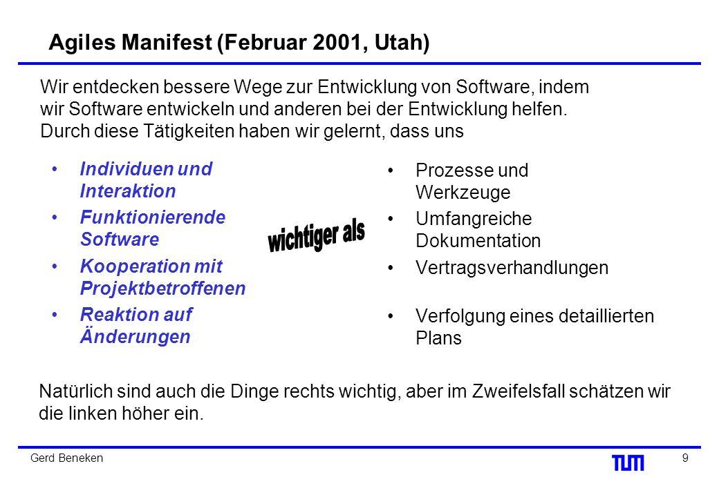 Agiles Manifest (Februar 2001, Utah)