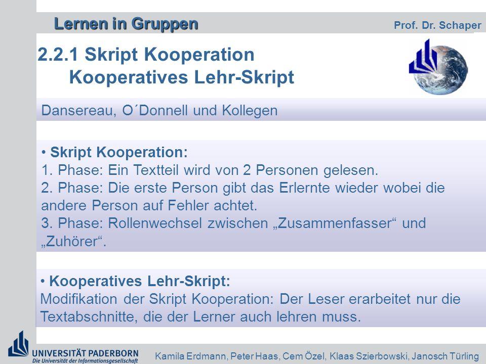 Kooperatives Lehr-Skript