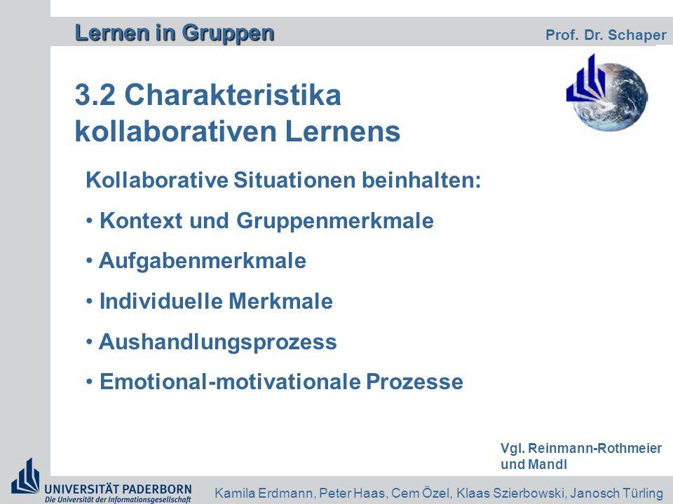 3.2 Charakteristika kollaborativen Lernens