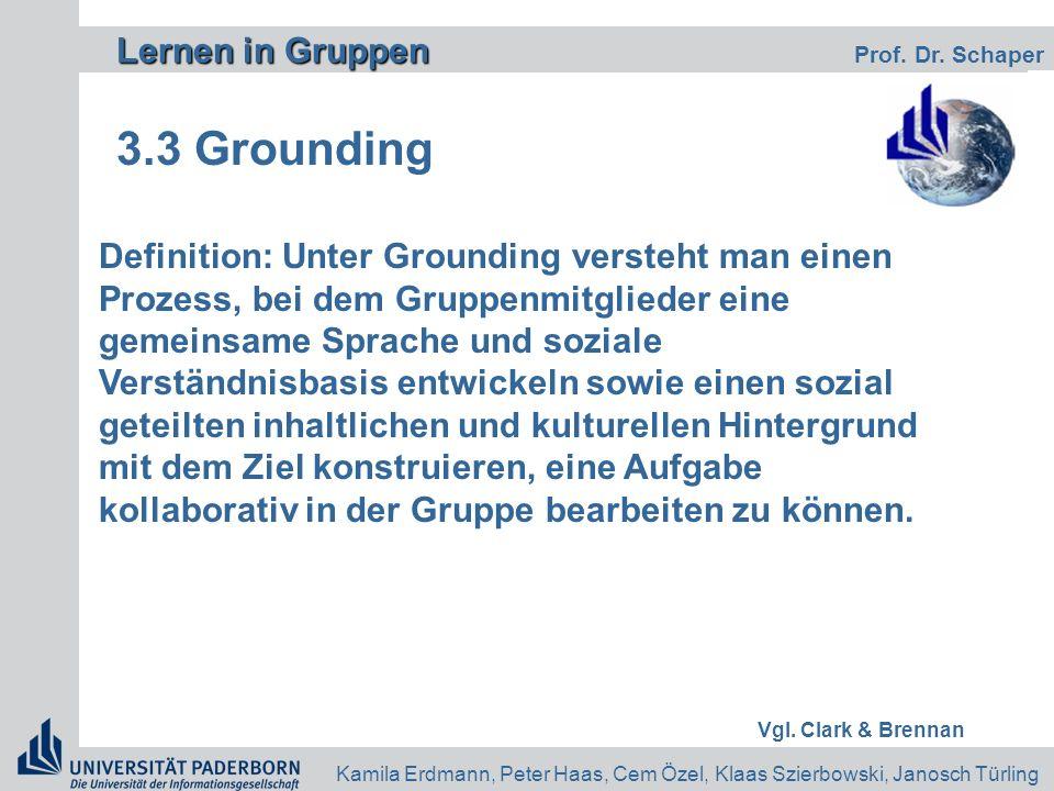 3.3 Grounding