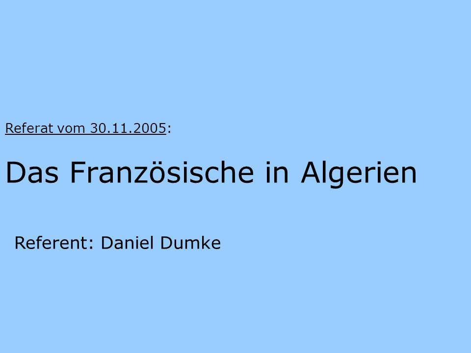 Das Französische in Algerien