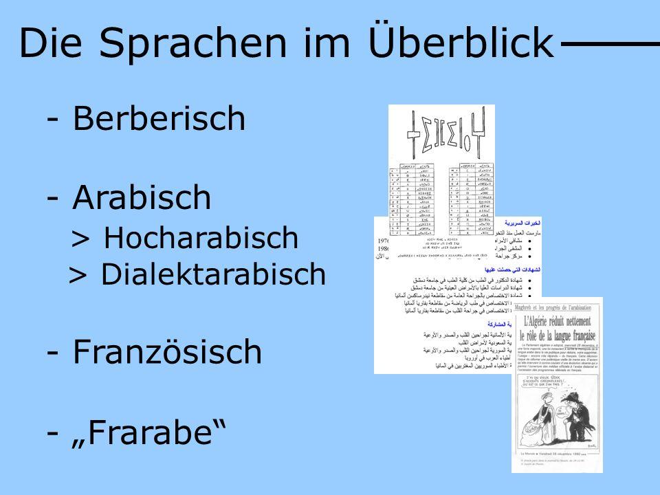 Die Sprachen im Überblick