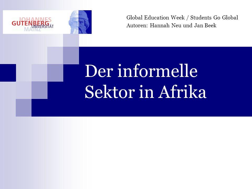 Der informelle Sektor in Afrika