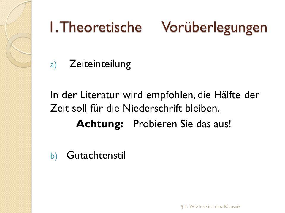 1. Theoretische Vorüberlegungen