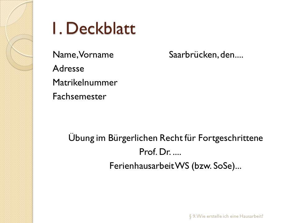 1. Deckblatt