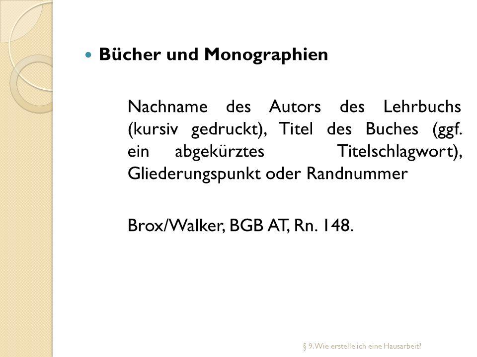Bücher und Monographien