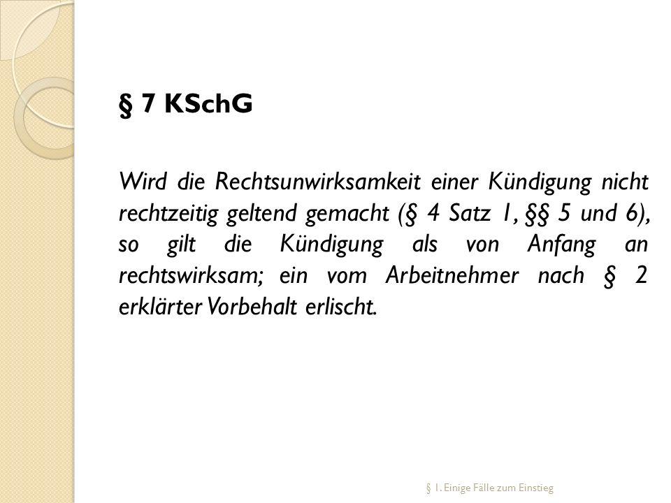 § 7 KSchG