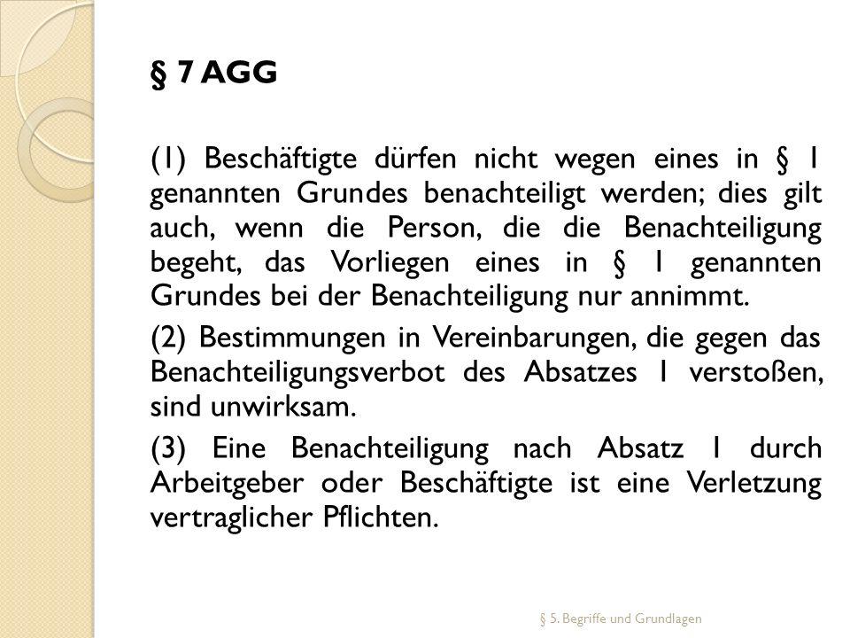 § 7 AGG