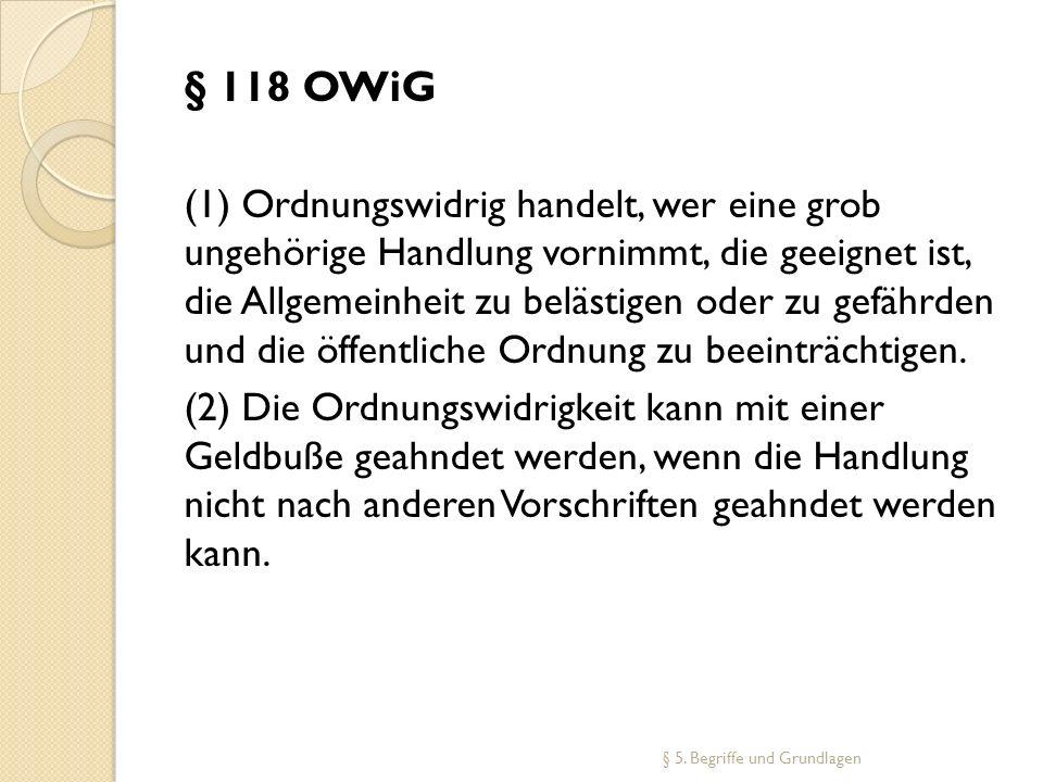 § 118 OWiG