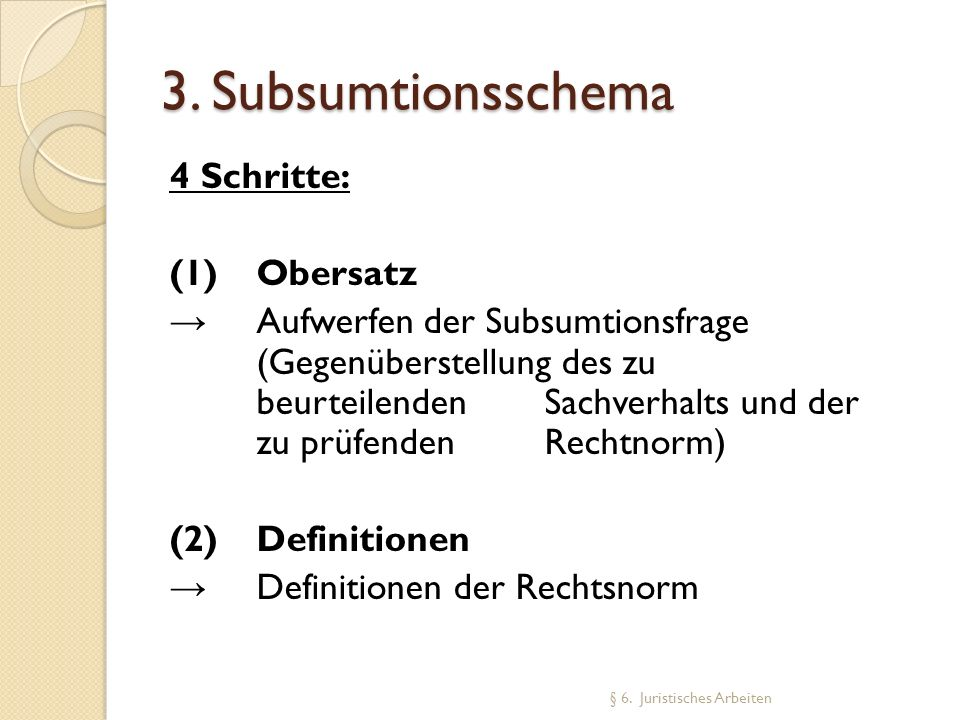 3. Subsumtionsschema