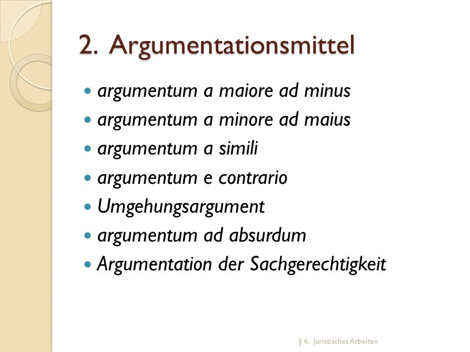 2. Argumentationsmittel