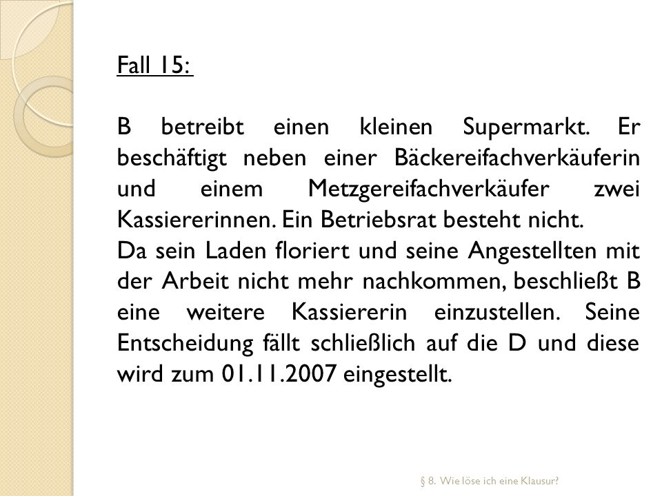 Fall 15: