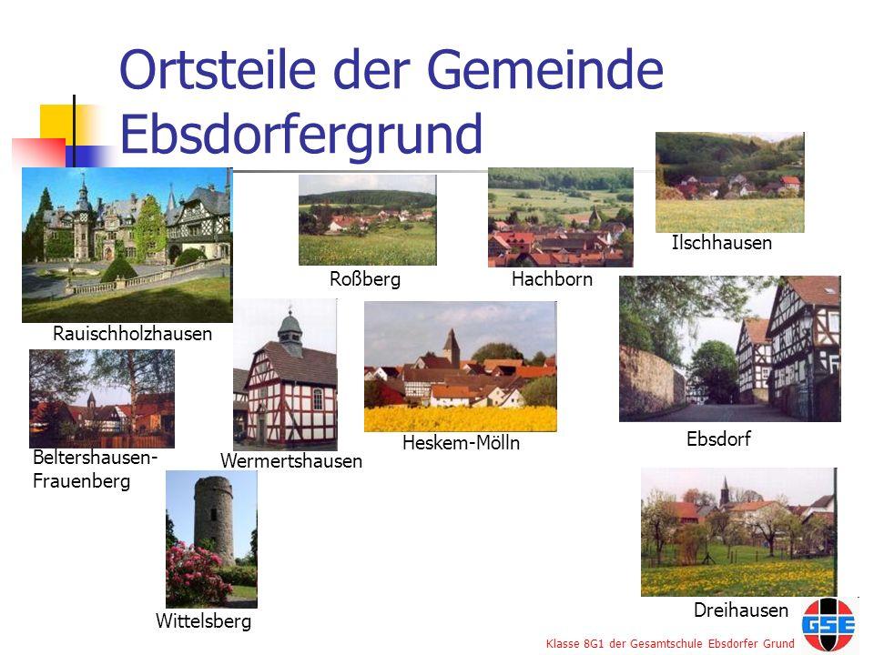 Ortsteile der Gemeinde Ebsdorfergrund