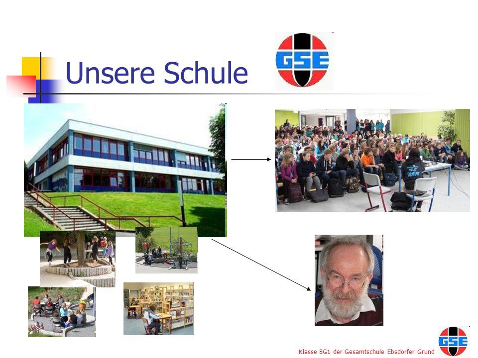 Klasse 8G1 der Gesamtschule Ebsdorfer Grund