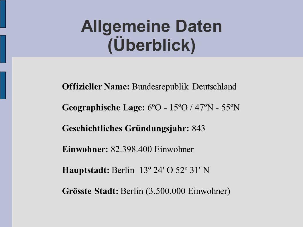 Allgemeine Daten (Überblick)