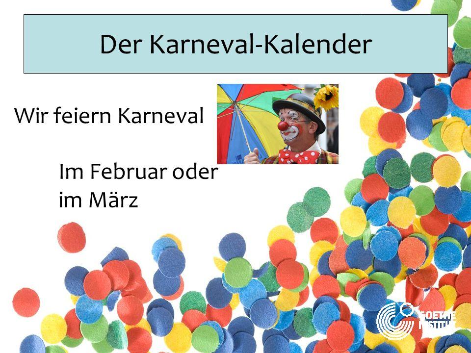 Der Karneval-Kalender