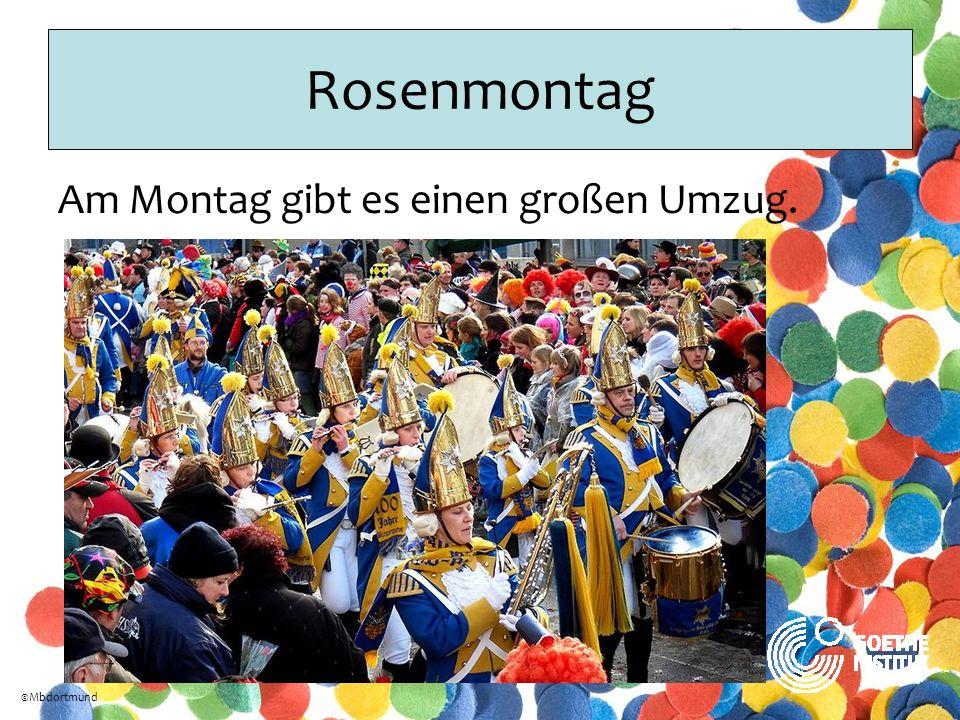 Rosenmontag Am Montag gibt es einen großen Umzug. ©Mbdortmund