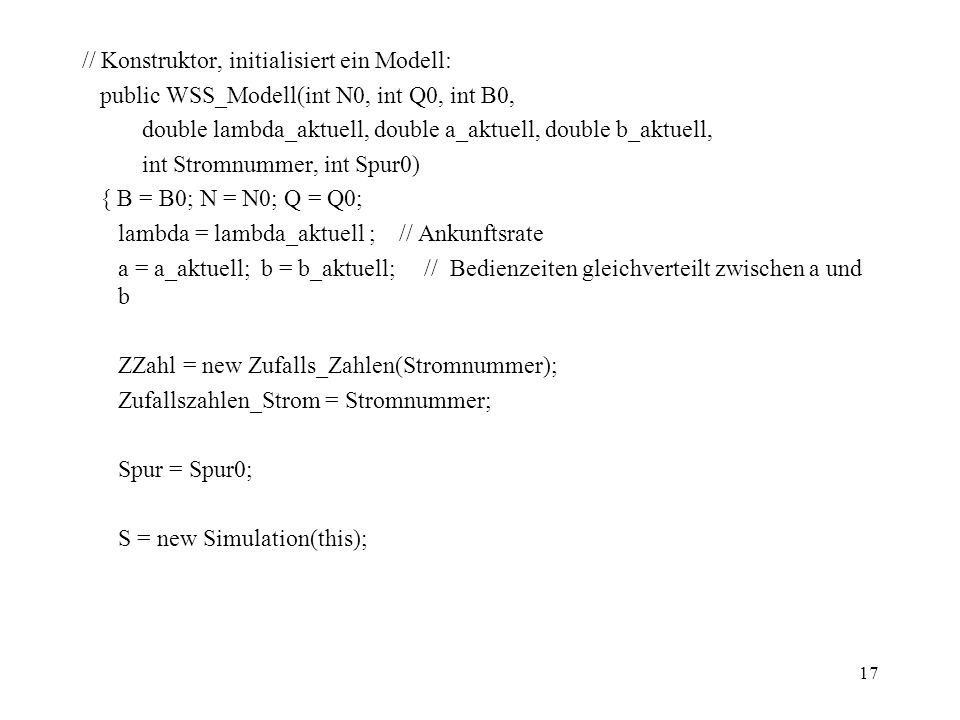 // Konstruktor, initialisiert ein Modell: