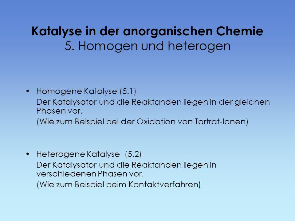 Katalyse in der anorganischen Chemie 5. Homogen und heterogen