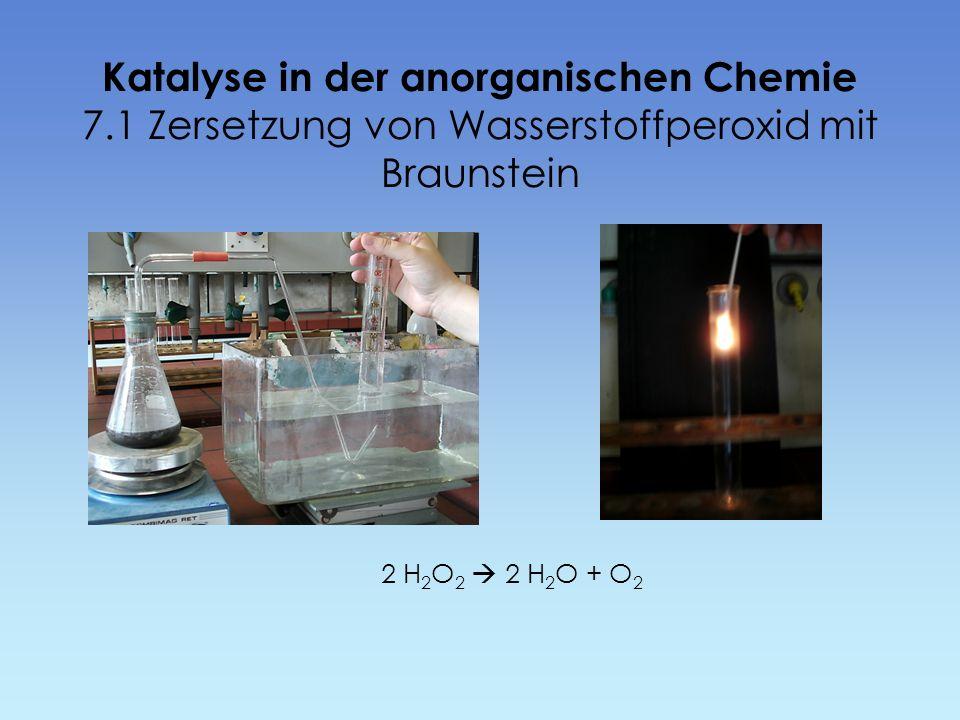 Katalyse in der anorganischen Chemie 7