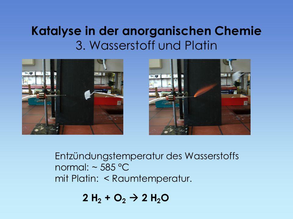 Katalyse in der anorganischen Chemie 3. Wasserstoff und Platin
