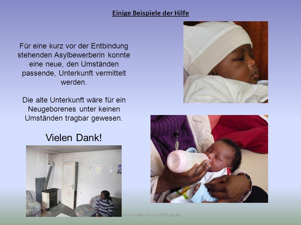 Einige Beispiele der Hilfe