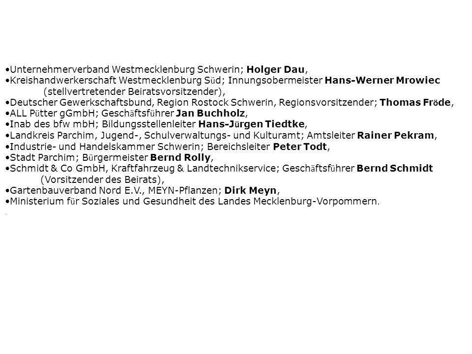 Unternehmerverband Westmecklenburg Schwerin; Holger Dau,