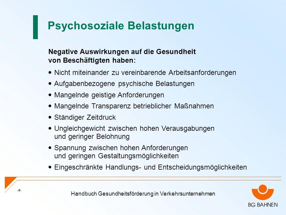 Psychosoziale Belastungen