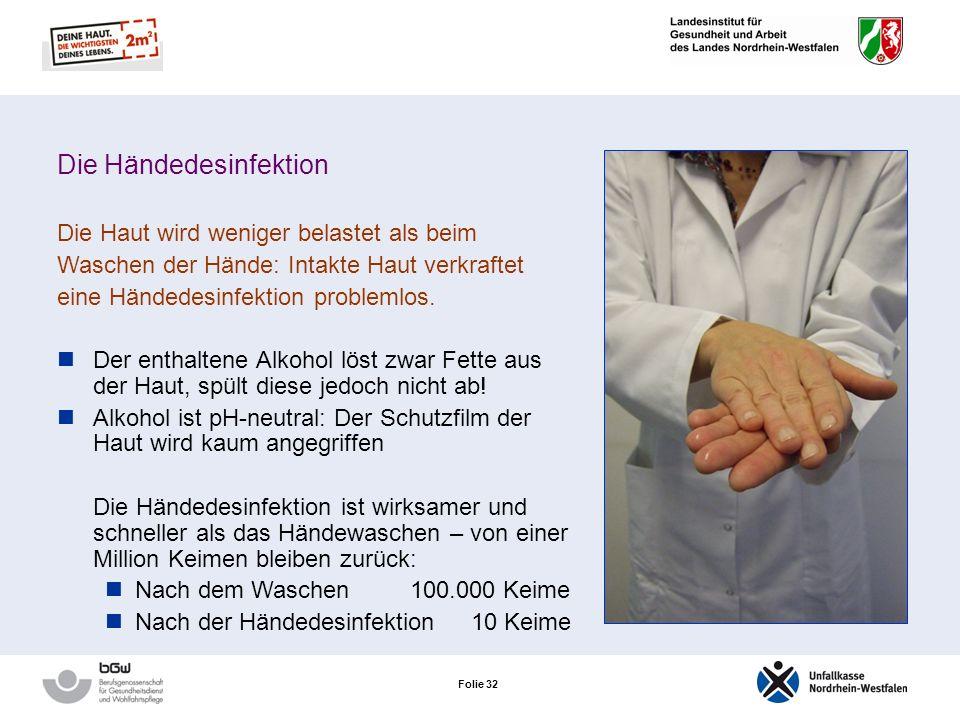 Die Händedesinfektion