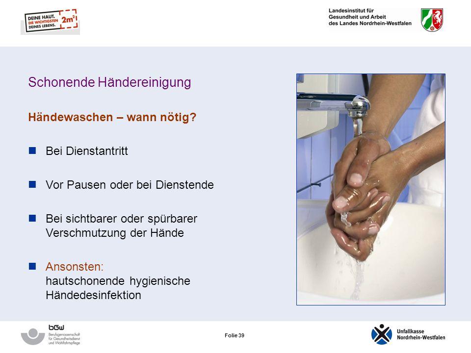 Schonende Händereinigung
