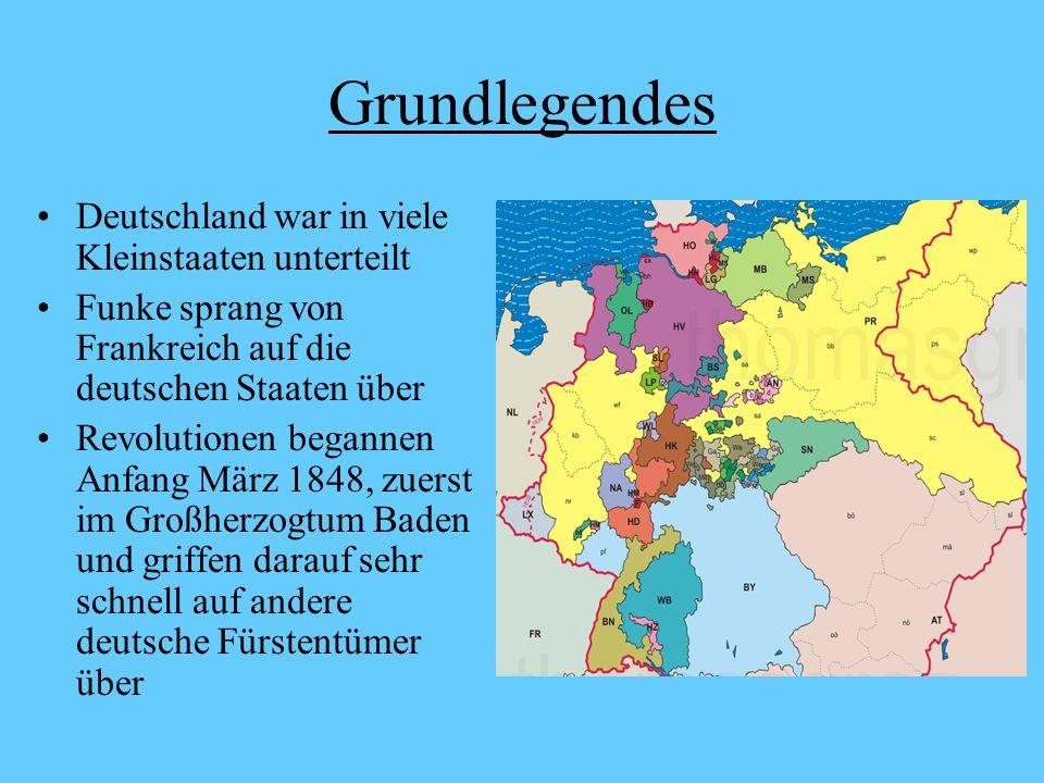 Grundlegendes Deutschland war in viele Kleinstaaten unterteilt