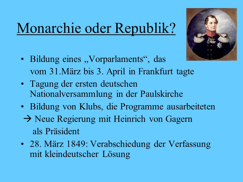 Monarchie oder Republik