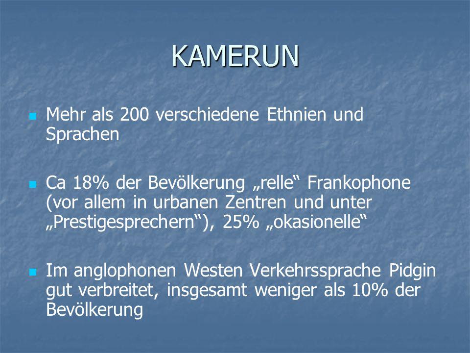 KAMERUN Mehr als 200 verschiedene Ethnien und Sprachen