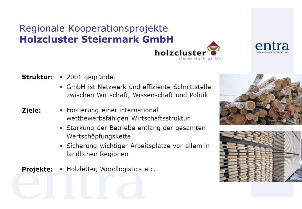Regionale Kooperationsprojekte Holzcluster Steiermark GmbH