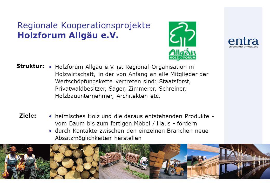 Regionale Kooperationsprojekte Holzforum Allgäu e.V.