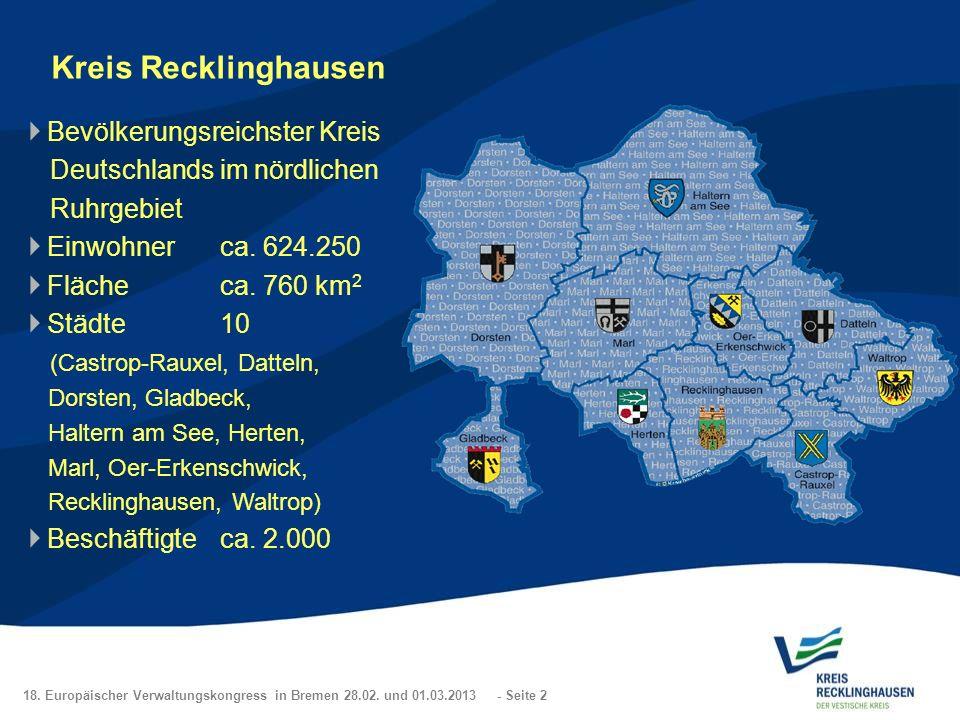 Kreis Recklinghausen Bevölkerungsreichster Kreis