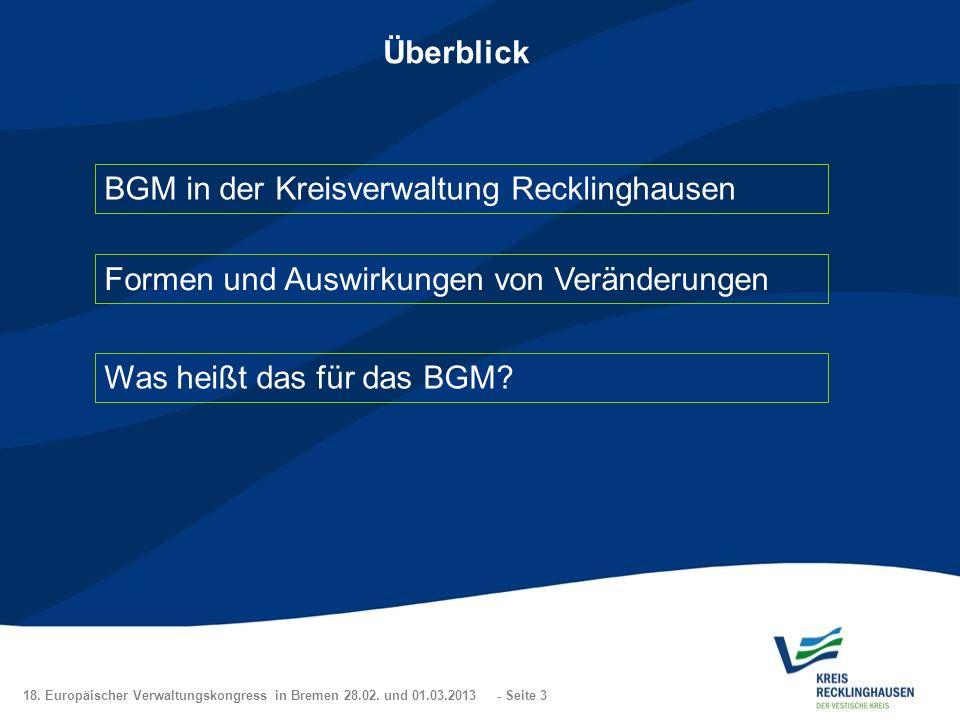 BGM in der Kreisverwaltung Recklinghausen
