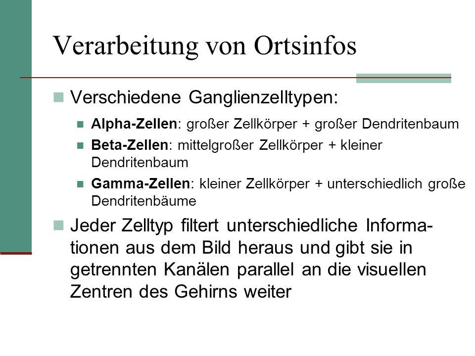 Verarbeitung von Ortsinfos