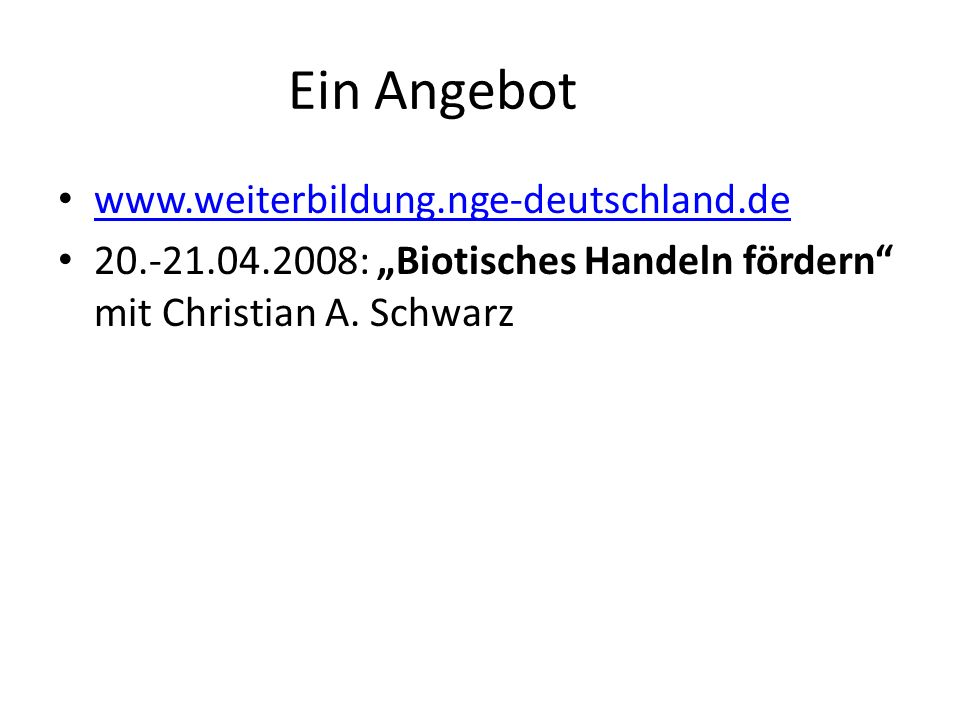 Ein Angebot www.weiterbildung.nge-deutschland.de