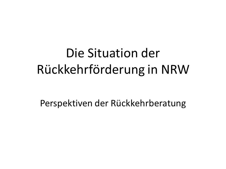 Die Situation der Rückkehrförderung in NRW